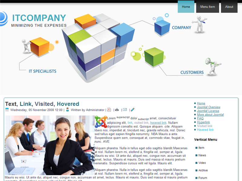 it-company-template-preview