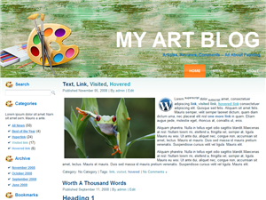 my-art-blog-wordpress-theme