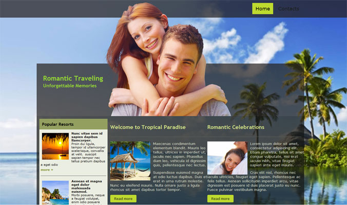 romantic-traveling-free-web-template